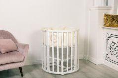 Детская круглая кроватка Incanto Mimi deluxe 7в1 белый