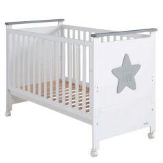 Кроватка 120x60 Micuna Baby Star(White/Grey)