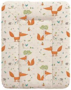 Пеленальный матраc на комод 70x50см Ceba Baby W-143 (fox ecru)