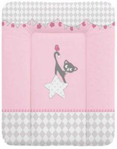 Пеленальный матраc на комод 70x50см Ceba Baby W-143 (cats pink)