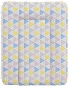 Пеленальный матраc на комод 70x50см Ceba Baby W-143 (triangle blue/yellow)