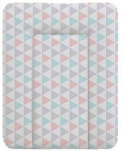 Пеленальный матраc на комод 70x50см Ceba Baby W-143 (triangle turquoise/orange)