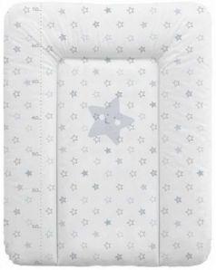 Пеленальный матраc на комод 70x50см Ceba Baby W-143 (stars grey)