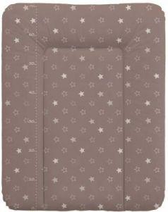 Пеленальный матраc на комод 70x50см Ceba Baby W-143 (stars brown)