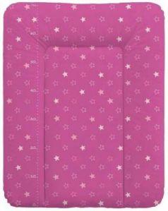 Пеленальный матраc на комод 70x50см Ceba Baby W-143 (stars dark pink)