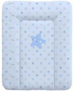 Пеленальный матраc на комод 70x50см Ceba Baby W-143 (stars blue)