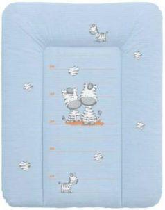 Пеленальный матраc на комод 70x50см Ceba Baby W-143 (zebra blue)