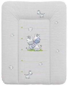 Пеленальный матраc на комод 70x50см Ceba Baby W-143 (zebra grey)
