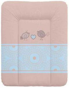 Пеленальный матраc на комод 70x50см Ceba Baby W-143 (birdies brown)