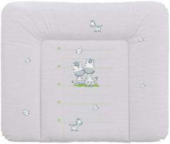 Пеленальный матраc на комод 70x85см Ceba Baby Caro W-134 (zebra grey)