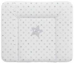 Пеленальный матраc на комод 70x85см Ceba Baby Caro W-134 (stars grey)