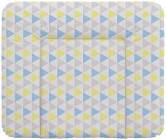 Пеленальный матраc на комод 70x85см Ceba Baby Caro W-134 (triangle blue/yellow)