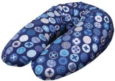 Подушка для кормления Ceba Baby Multi (трикотаж/circles blue)
