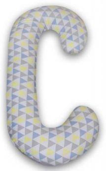 Подушка для кормления Ceba Baby Duo (трикотаж/jersey triangle blue/yellow)