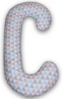 Подушка для кормления Ceba Baby Physio Duo (трикотаж/triangle turquoise/orange)