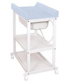 Пеленальный стол Ceba Baby Laura с матрасиком Caro (grey/матрасик blue)