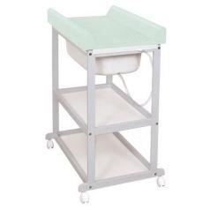 Пеленальный стол Ceba Baby Laura с матрасиком Caro (grey/матрасик mint)