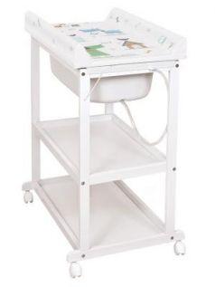 Пеленальный стол Ceba Baby Laura (white/матрасик my dog blue/green)