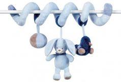 Мягкая игрушка кролик Nattou Alex Bibou Toy Spiral флис