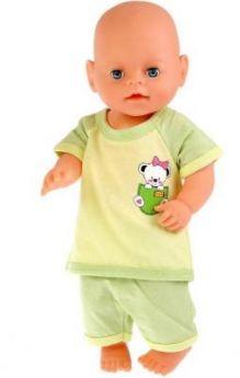 "Одежда для кукол Карапуз костюм футболка и шорты ""медвежонок"""