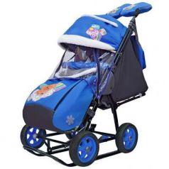 City-1 2 Медведя на облаке на синем на больших колёсах Ева+сумка+варежки