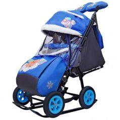 City-1-1 2 Медведя на облаке на синем на больших надув колёсах+сумка+вареж
