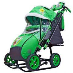 City-2 Серый Зайка на зелёном на больших колёсах Ева+сумка+варежки