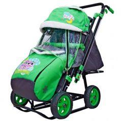 City-2 Совушки на зелёном на больших колёсах Ева+сумка+варежки