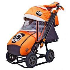 City-2-1 Панда на оранжевом на больших надувных колёсах+сумка+варежки