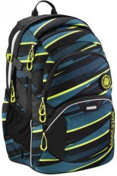 Школьный рюкзак светоотражающие материалы Coocazoo JobJobber2: Wild Stripe 30 л черный бирюзовый 00183620