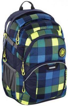 Школьный рюкзак светоотражающие материалы Coocazoo JobJobber2: Lime District 30 л синий желтый 00138722