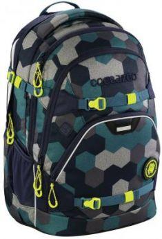Школьный рюкзак светоотражающие материалы Coocazoo ScaleRale: Blue Geometric Melange 30 л синий бирюзовый 00183608