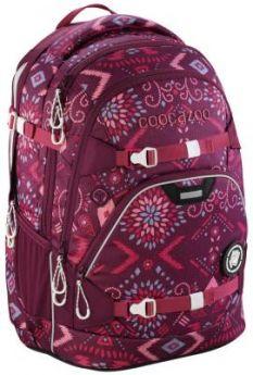 Школьный рюкзак светоотражающие материалы Coocazoo ScaleRale: Tribal Melange 30 л бордовый 00183611