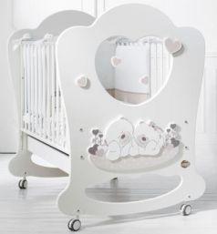 Детская кровать Sogno белый/серо-бежевый
