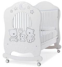 Детская кровать Happy Family Oblo, белый