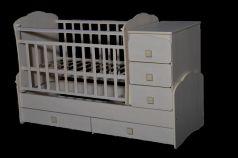 Кроватка с маятником Антел Ульяна 1 (фигруная спинка/клен)
