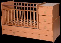 Кроватка с маятником Антел Ульяна 2 (бук)