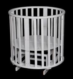 Кроватка с маятником 6-в-1 Антел Северянка 3 (белый)