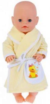 "Одежда для кукол ""Карапуз"" 40-42см, желтый халатик ""утенок"" в пак. в кор.100шт"