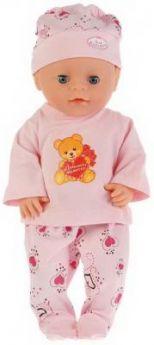 """Одежда для кукол """"Карапуз"""" 40-42см, костюм ползунки, кофта, шапка """"медведь с сердечком"""" в кор.100шт"""