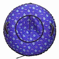Надувные санки RT Собаки Королевы до 120 кг синий рисунок ПВХ