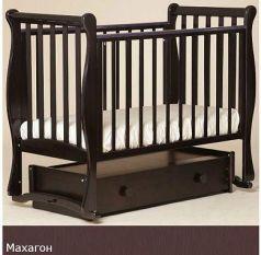 Кроватка с маятником Лель Лаванда АБ 21 (махагон)