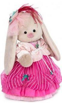 """Мягкая игрушка зайка BUDI BASA """"Зайка Ми-барышня в карамельно-розовом"""" искусственный мех ткань 25 см"""