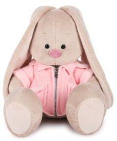 Мягкая игрушка BUDI BASA SidM-209 Зайка Ми в розовой меховой курточке 32см