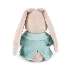 Мягкая игрушка зайка BUDI BASA Зайка Ми в голубой меховой курточке искусственный мех 32 см
