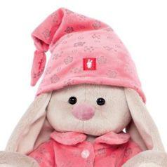Мягкая игрушка зайка BUDI BASA Зайка Ми в розовой пижаме искусственный мех 23 см