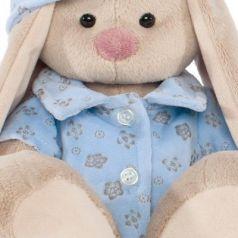 Мягкая игрушка зайка BUDI BASA Зайка Ми в голубой пижаме искусственный мех 23 см