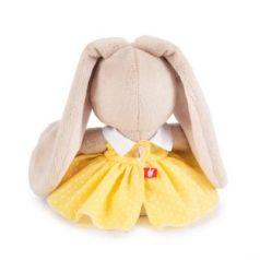 Мягкая игрушка зайка BUDI BASA Зайка Ми в желтом платье в горошек искусственный мех 15 см