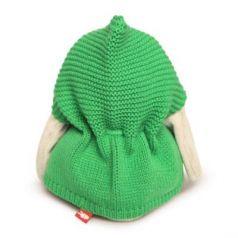 Мягкая игрушка зайка BUDI BASA Зайка Ми в зеленом пончо искусственный мех 15 см