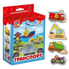 Магнитная игра Vladi toys развивающая Мой маленький мир Транспорт